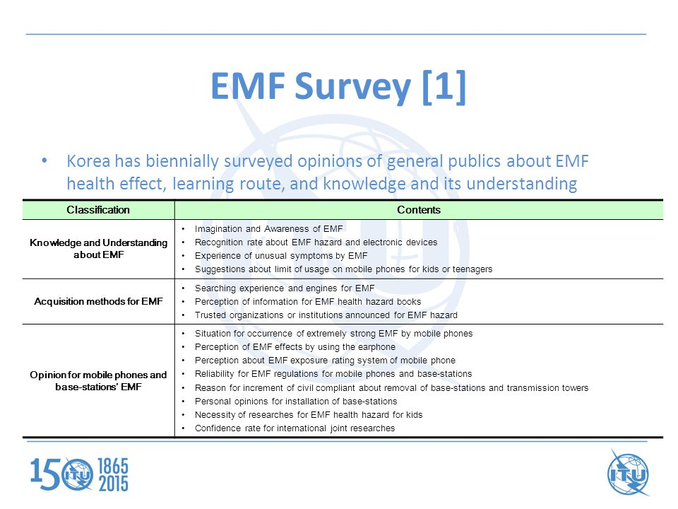 EMF Policy, research and activity in Korea - ppt download